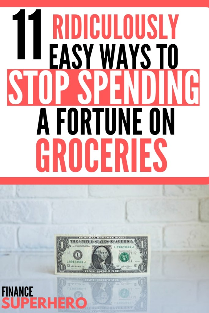 In this post, we're sharing 11 ways we have cut our grocery bill nearly in half without reducing the quality of our diet or spending hours couponing. If you're looking to save money on food, this is just about as easy as it gets!