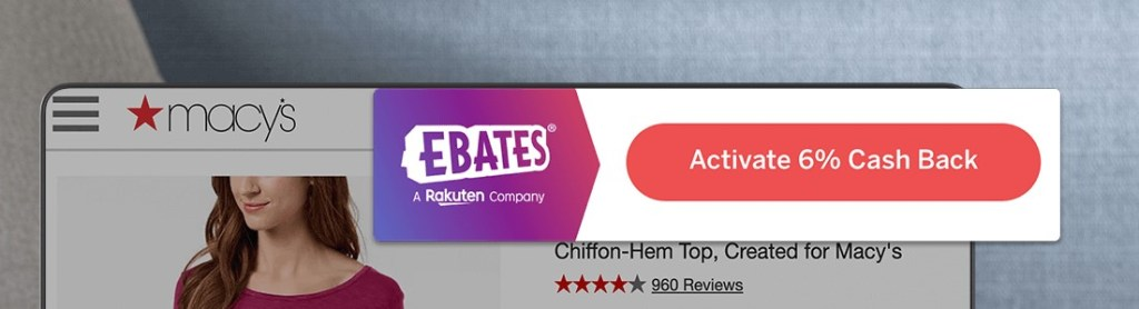 Ebates Cash Back Button