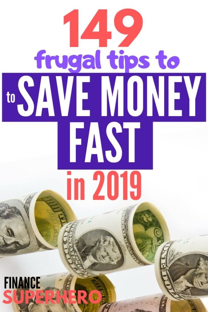 Need to save money fast? We've put together this definitive list of money saving tips, including frugal living tips, unusual ways to save money, and smart money saving hacks to help you save cash in 2019.