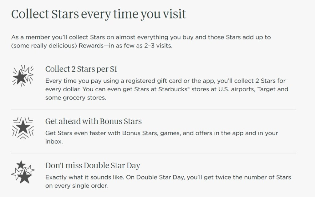 How do you earn starbucks stars to get free starbucks coffee