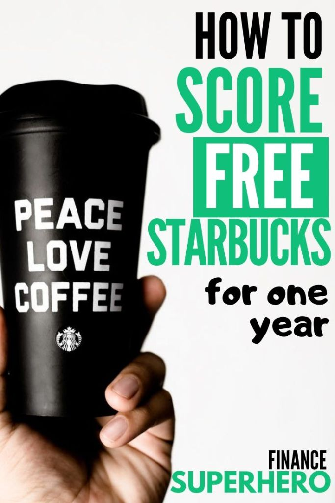 Calling all coffee addicts: here's how you can get free Starbucks for one year! We're sharing all of the secret ways we get free coffee, pay for it using free Starbucks gift cards, and make passive income to pay for our daily Starbucks run.