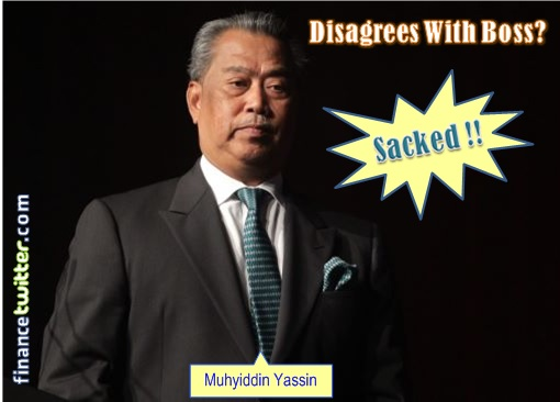 Image result for Muhyiddin Yassin fired