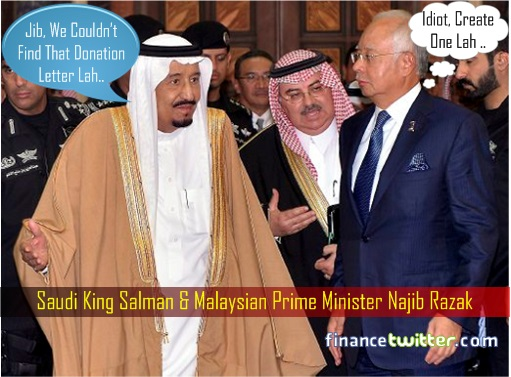 Image result for Saudi King and Najib