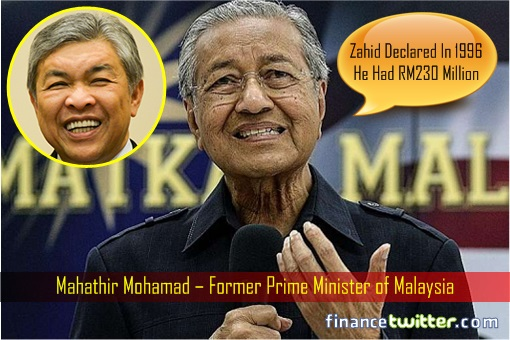 Image result for Mahathir and Zahid Hamidi