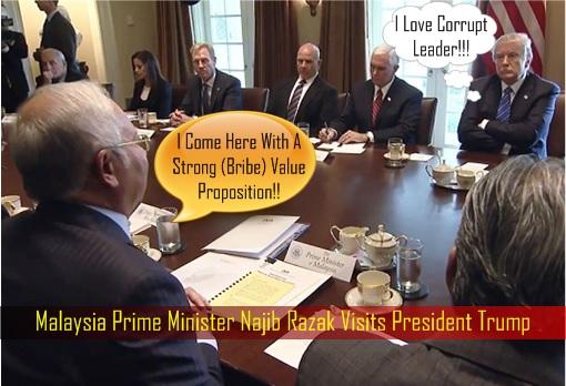 Image result for Najib Razak meets DonaldTrump