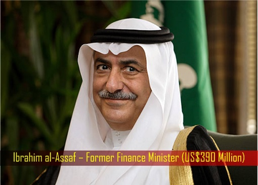 Ibrahim al-Assaf – Former Finance Minister - US Dollar 390 Million