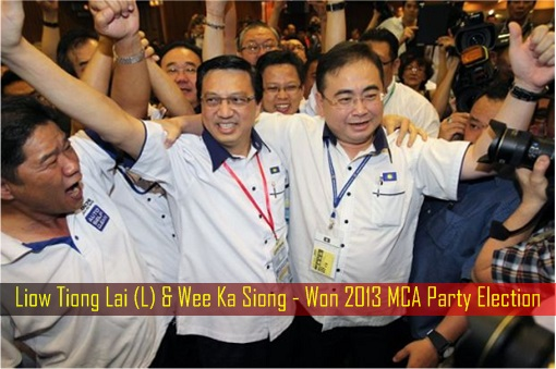 Liow Tiong Lai and Wee Ka Siong - Won 2013 MCA Party Election
