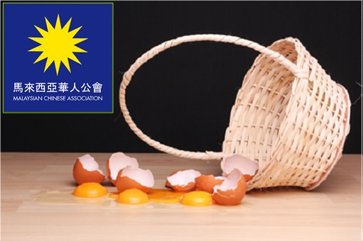 MCA Malaysia Chinese Association - Empty Basket Without Eggs