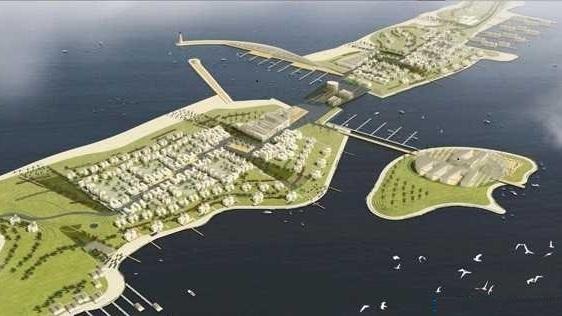 Maquette du futur port port Nador West Med