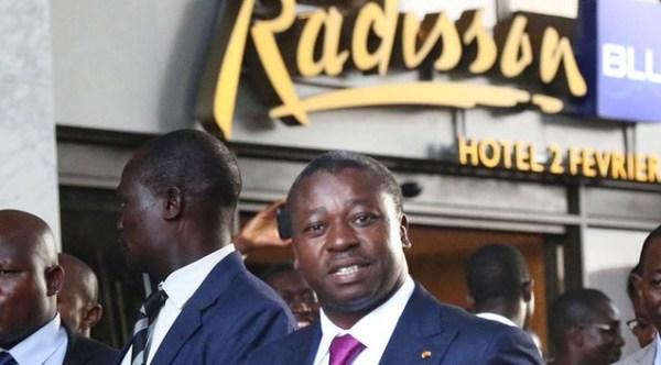 le Président Faure Gnassingbé Eyadèma à l'inauguration l'hôtel Radisson Blu-2 février
