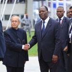 Visite historique du président indien Pranab Mukherjee en Côte d'Ivoire