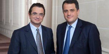 Bernard Gauthier, membre du directoire et Frederick Lemoine, Président du directoire de Wendel