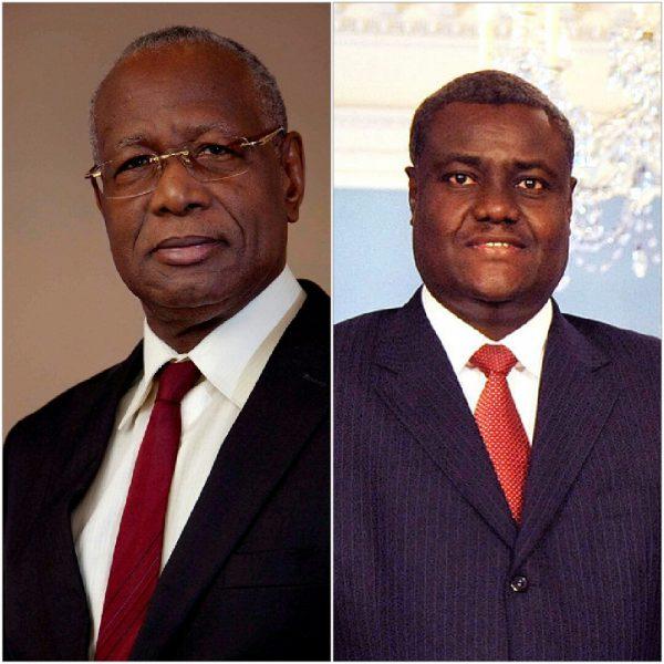 Le Senegalais, Pr Abdoulaye Bathily et le ministre tchadien, Moussa Faki Mahamat
