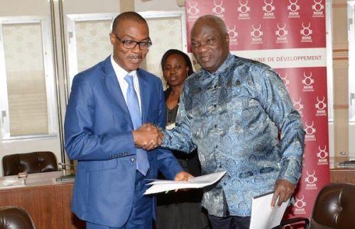 Bassary TOURE, Vice-Président de la Banque ouest- africaine de développement (BOAD), et Serge NGUESSAN, Représentant résident de la Banque africaine de développement (BAD) au Togo