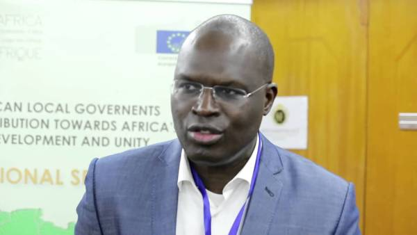 Khalifa Sall , maire de Dakar et président de CGLU Afrique