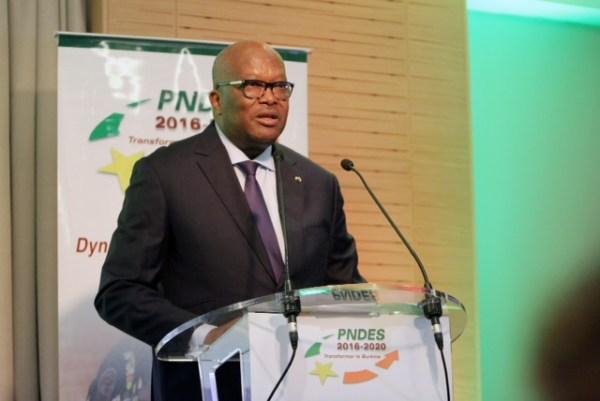 Le Président Kaboré lors de la cérémonie d'ouverture le mercredi 7 décembre© Dir. com. Présidence du Faso