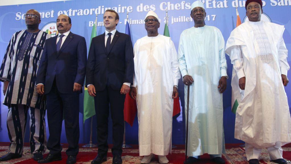 Emmanuel Macron apporte son soutien à la force G5 Sahel — Mali