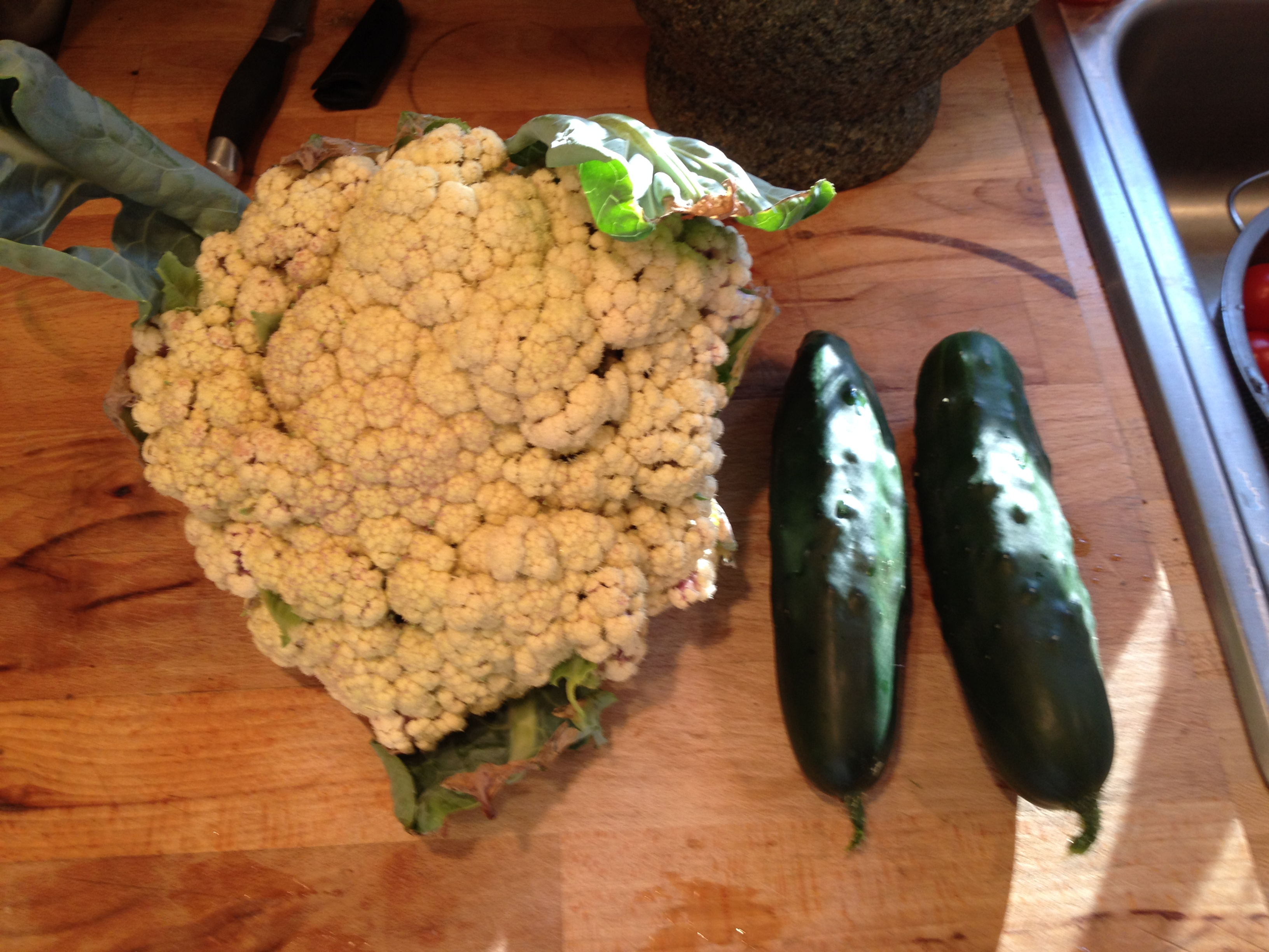 Cauliflower and Cukes