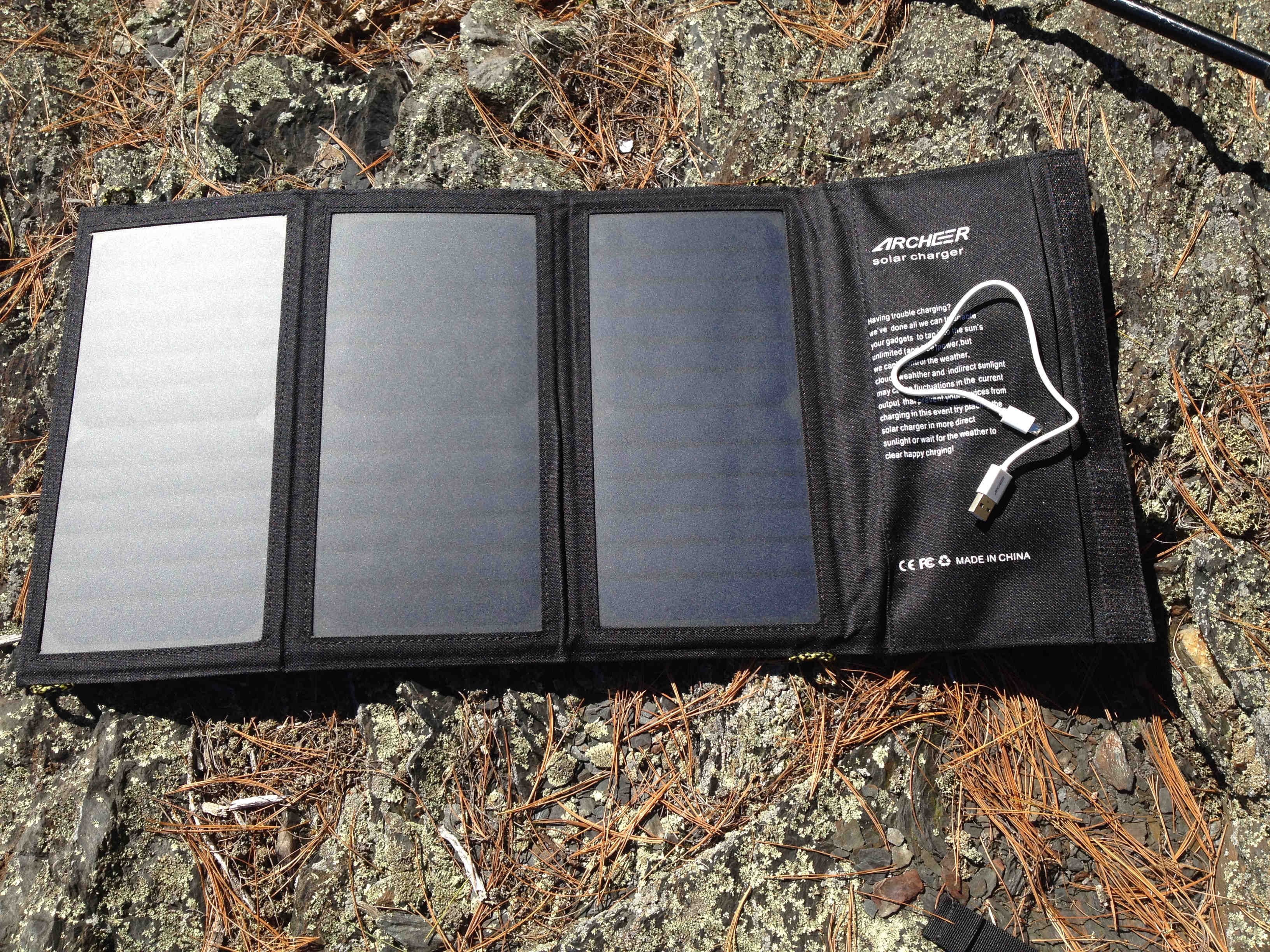Archeer solar charger open