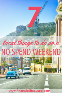 Local Things To Do On A No Spend Weekend