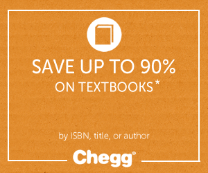 Save up to 90% on textbooks from Chegg