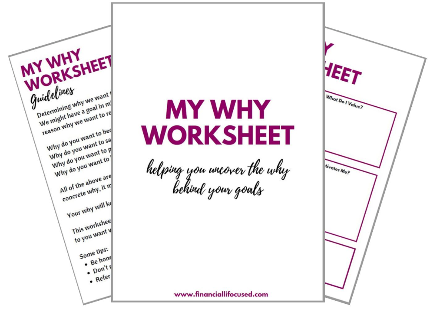 Uncover Your Why Worksheet Gt Financialli Focused