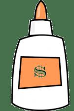 money bonding glue