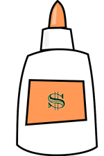 money bonding glue