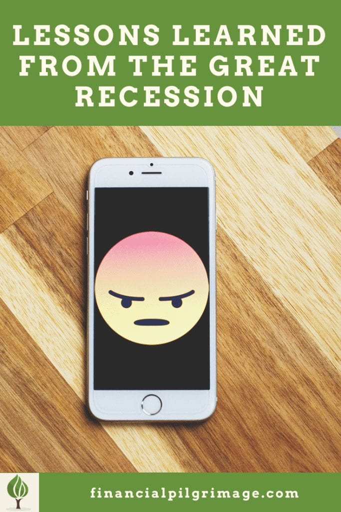 Lessons learned from the Great Recession Pinterest Image