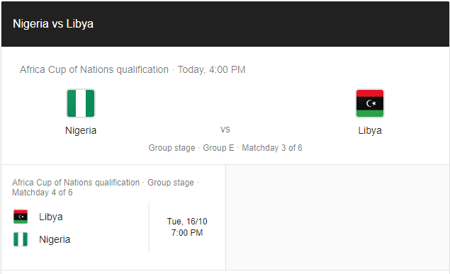 Nigeria vs Libya: TV channel, live updates, squad news