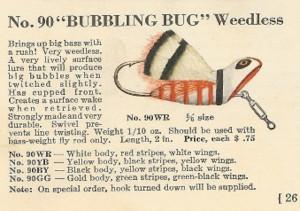 heddon bubbling bug