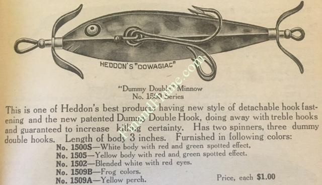 Heddon Dummy Double Ad 1917
