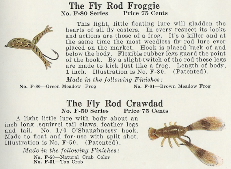 Fly Rod Crawdad Page in Creek Chub Lure Catalog