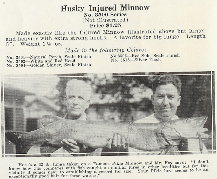 Husky Injured Minnow Catalog Ad