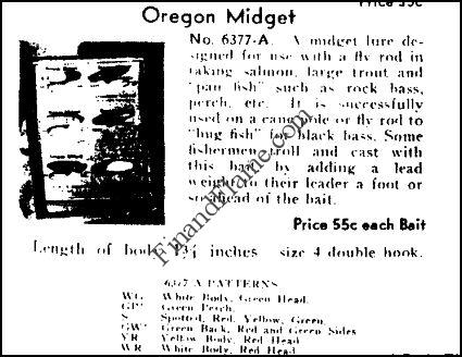 1934 Shakespeare Oregon Midget Catalog Ad