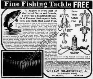 Shakespeare Antique lure Ad 1906