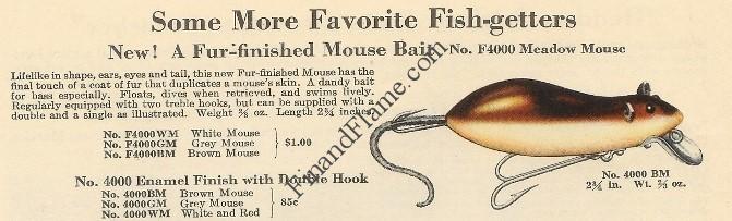 Heddon Meadow Mouse Lure Catalog Cut