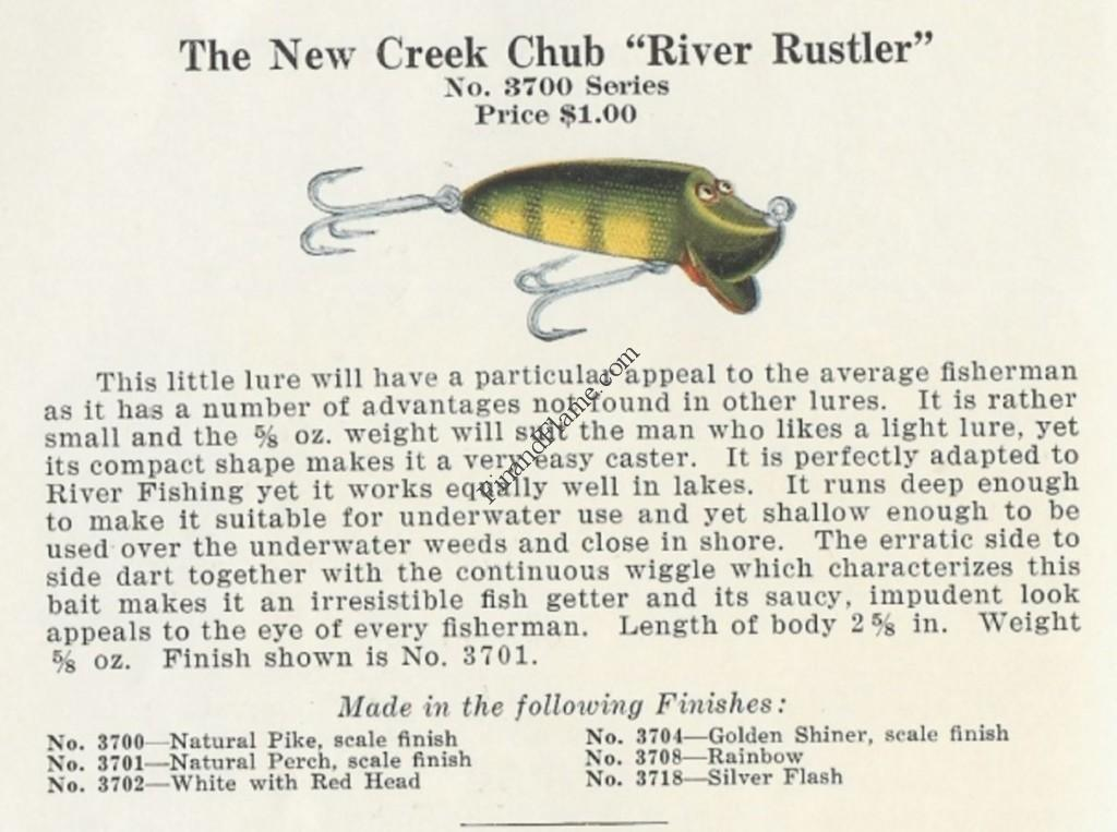 Creek Chub River Rustler Lure Catalog