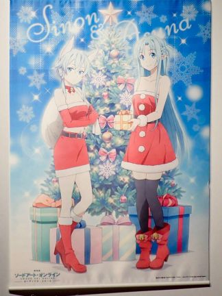 Sword Art Online - Asuna & Sinon Xmas - Wall Scroll