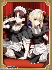 Fate/Stay Night - Rin ja Saber maid ver - card sleeve