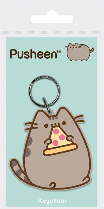 Pusheen Pizza Rubber Keychain - Pusheen