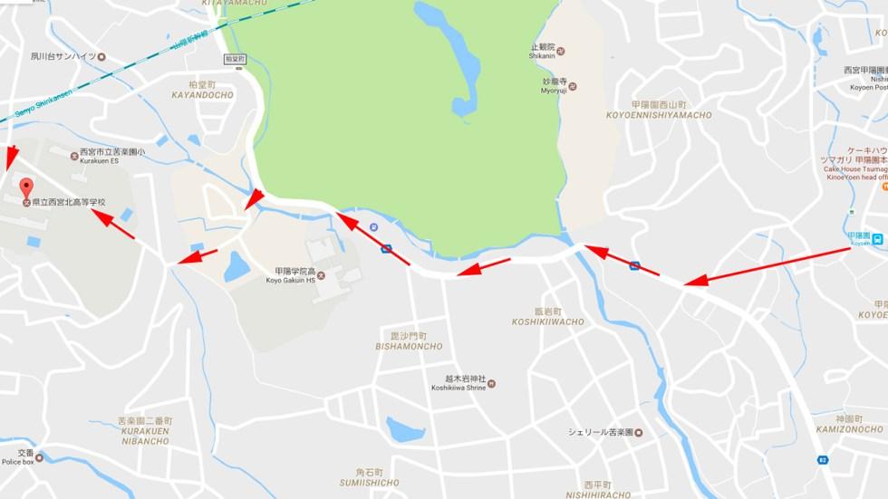 Haruhi Suzumiya Koyoyen pilgrimage map