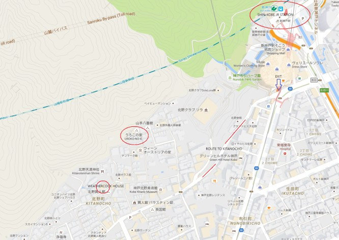 Fate Stay Night Shin Kobe pilgrimage map