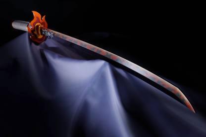 Kimetsu no Yaiba: Demon Slayer – Nichirin Sword Proplica Replica, Kyojuro Rengokun miekka