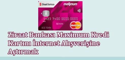 Ziraat Bankası Maximum Kredi Kartını İnternet Alışverişine Açtırmak