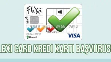 Flexi Card Kredi Kartı Başvurusu