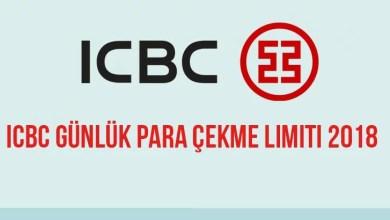 ICBC Günlük Para Çekme Limiti 2018