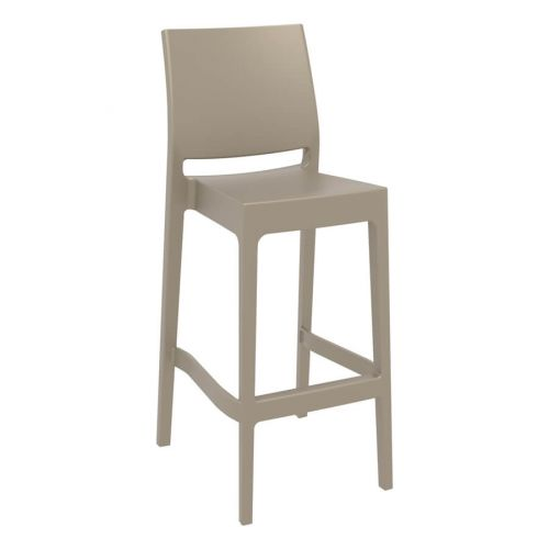tabouret de bar empilable taupe spice