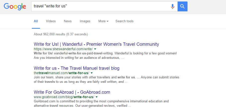 Travel Guest Blogging Sites