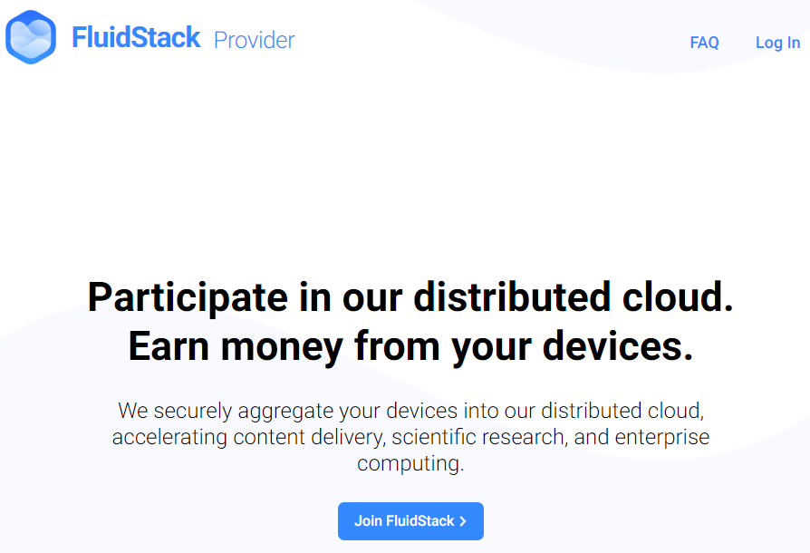 FluidStack – Make money when your PC is idle